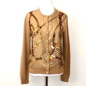 Ralph Lauren. Silk cashmere equestrian cardi